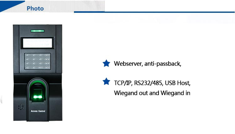 High Security Biometric Finger Print Machine for Access Control (HF-F8)