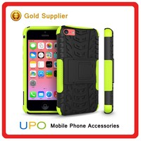 [UPO] New Arrival 3 in 1 Kickstand Rugged Combo Silicone Plastic Cool Phone Case For iPhone 5C
