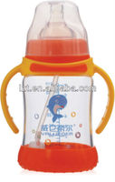 OEM/ODM Service! 210ml Wide Neck Glass Feeding Bottle Lucky Baby Products