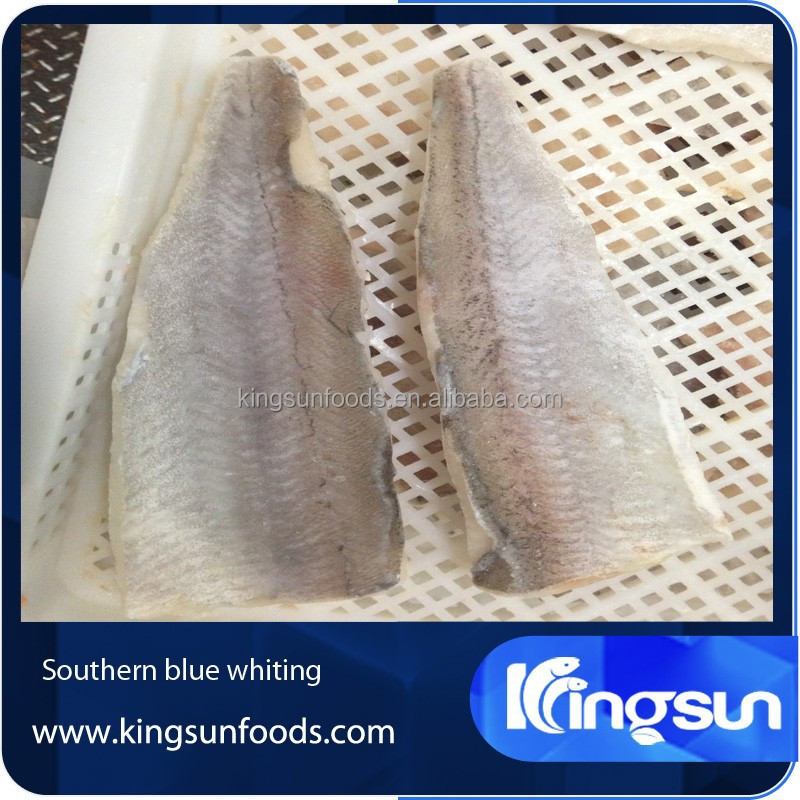 Frozen skin on Southern Blue Whiting fillet