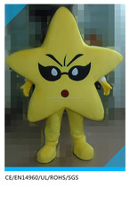 yellow star shape costume for adult/adult yellow star mascot costumes
