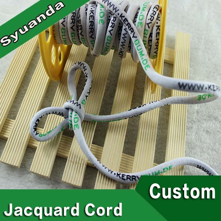 8mm Custom Round Nylon Jacquard Cord for Pants