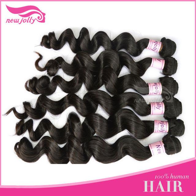 Newjolly hair virgin brazilian hair deep curly /loose wavy/straight/body wave weave