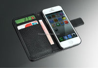 FL492 Genuine smooth Lichee Pattern leather case for iPhone5 5S real smooth cow leather Cover for iphone 5 5s