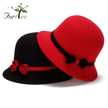 Made in china OEM colorful elegant cute girls ladies fashion winter felt hats