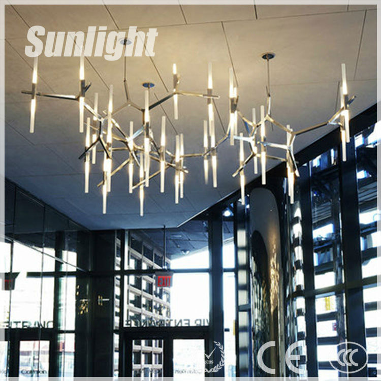 modern industrial Tree branches shape Italy style led vintage metal pendant lamp for hotel