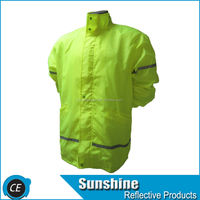 Best selling yellow Reflective safety jacket for men