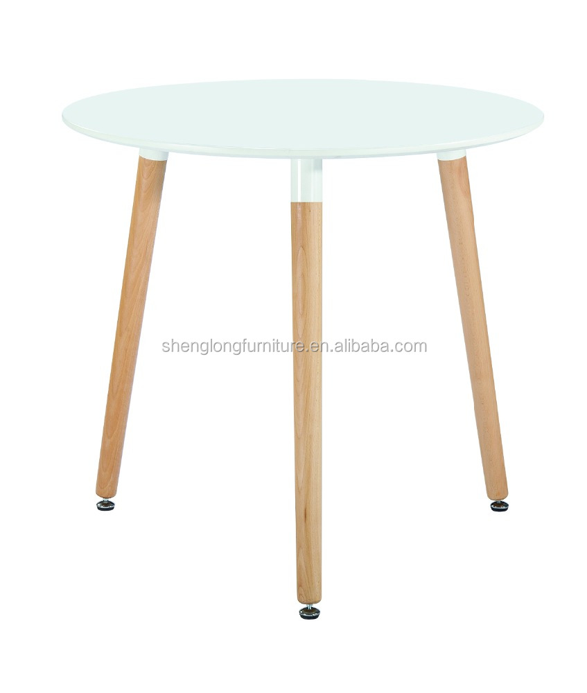 wholesale white round mdf dining table