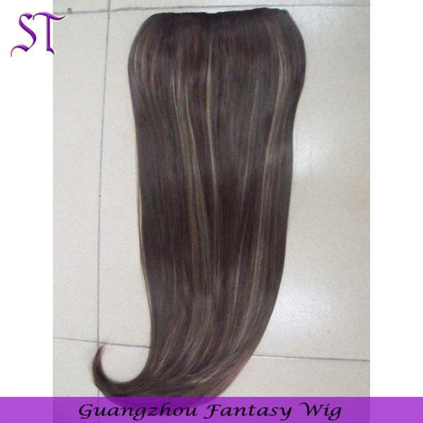 Wig factory wholesale long straight synthetic hair extensions clip