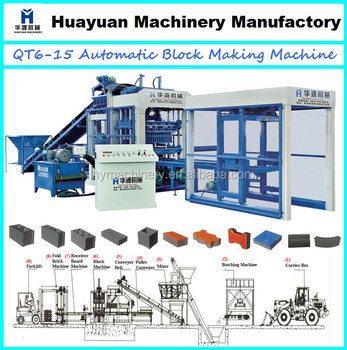 HY6-15 block making machine,automatic block machine,concrete block making machine