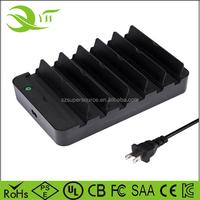 Mini usb hub solar power charging station usb charging station 6 port for iPhone 7 / 6s / Plus, iPad Pro / Air 2 / mini