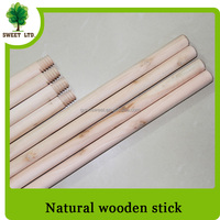 SWEET or OEM wooden broom stick factory directly sales natural wooden handle