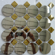 Round Mix Stainless Steel Mosaic Tile
