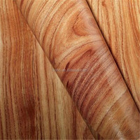 Self Adhesive Vinyl Sticker Wood Grain PVC Sheet For Furniture
