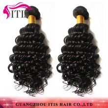 Nature black hot selling popular soft touch brazilian deep curl hair weaving