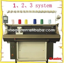 single system, 2 system, 3 system jacquard knit machine