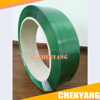 Alibaba China Factory Green PET Strapping Band embossed polyester strapping band