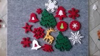 Promotion custom wholesale felt christmas decoration