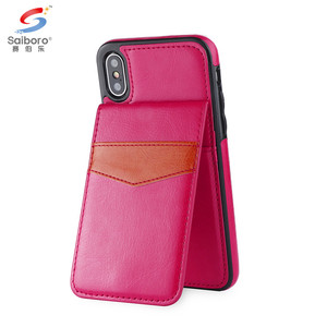 For samsung galaxy s6 s7 edge s8 s9 plus j5 j7 prime pu leather back phone case with card holder