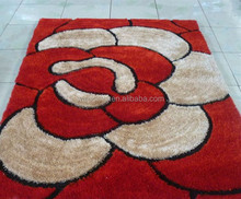 Custom logo Polyester silk shaggy carpet and rug made in China