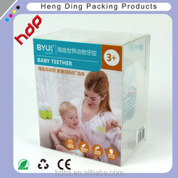 customizable plastic pvc transparent packaging boxes in malaysia for baby products
