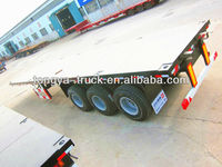 China tongyada 40ft flatbed container trailer truck used for sale