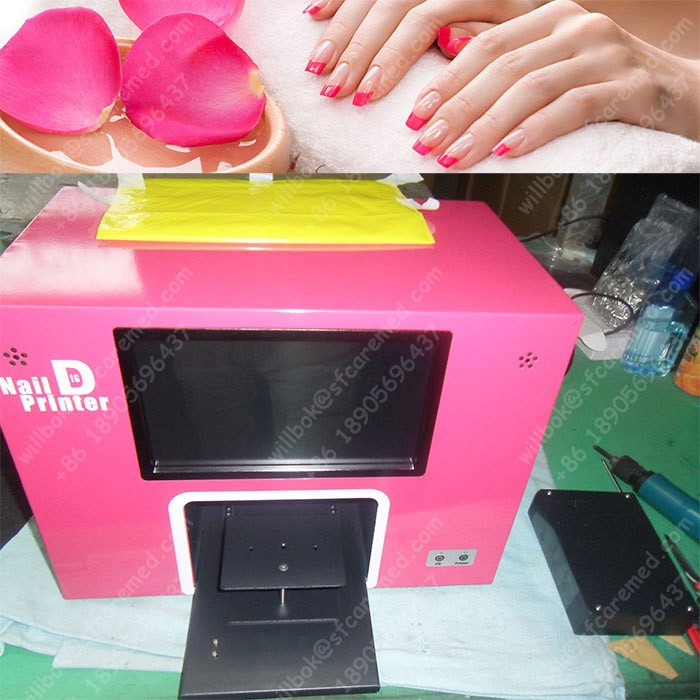 2016 Shop Salon Digital acrylic nail machine printer with computer