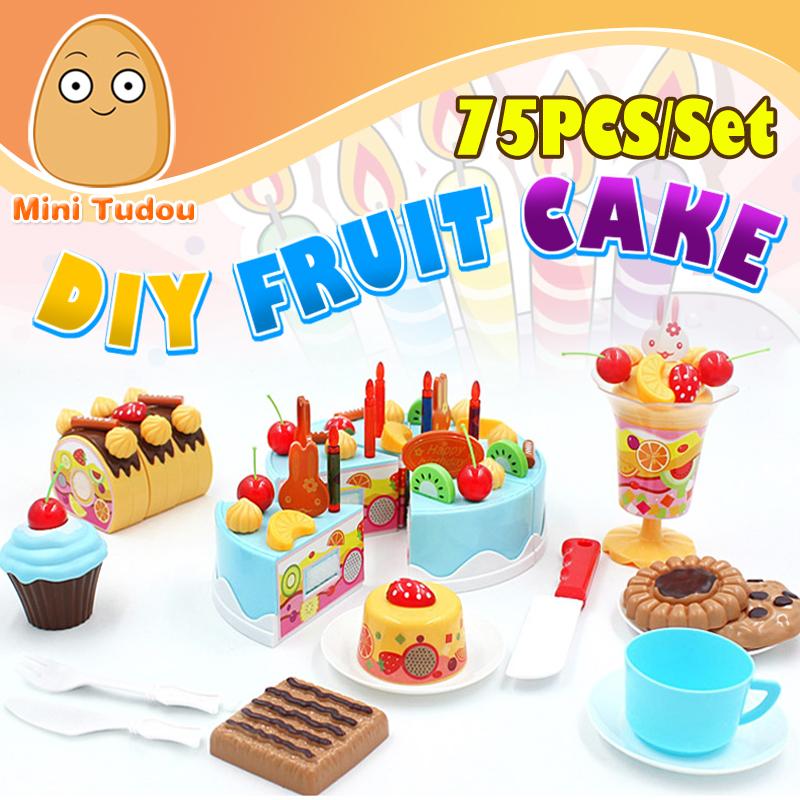 minitudou unids de corte bricolaje pastel de cumpleaos de los nios nios beb temprano educativo