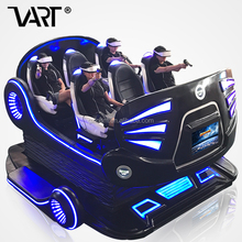 Amusement Park VR 6 Seats Theater Equipment Electronic Virtual Reality Rides 9D Cinema Simulator