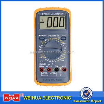 Digital Multimeter DT5808 with Frequency Temperature Capacitance test Auto Power Off