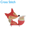 Sell well gifts embroidery home decoration kits Diy Fox craft handicraft cross stitch kits