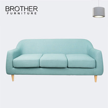 Couch hotel furniture 3 seater modern fabric couch with round back