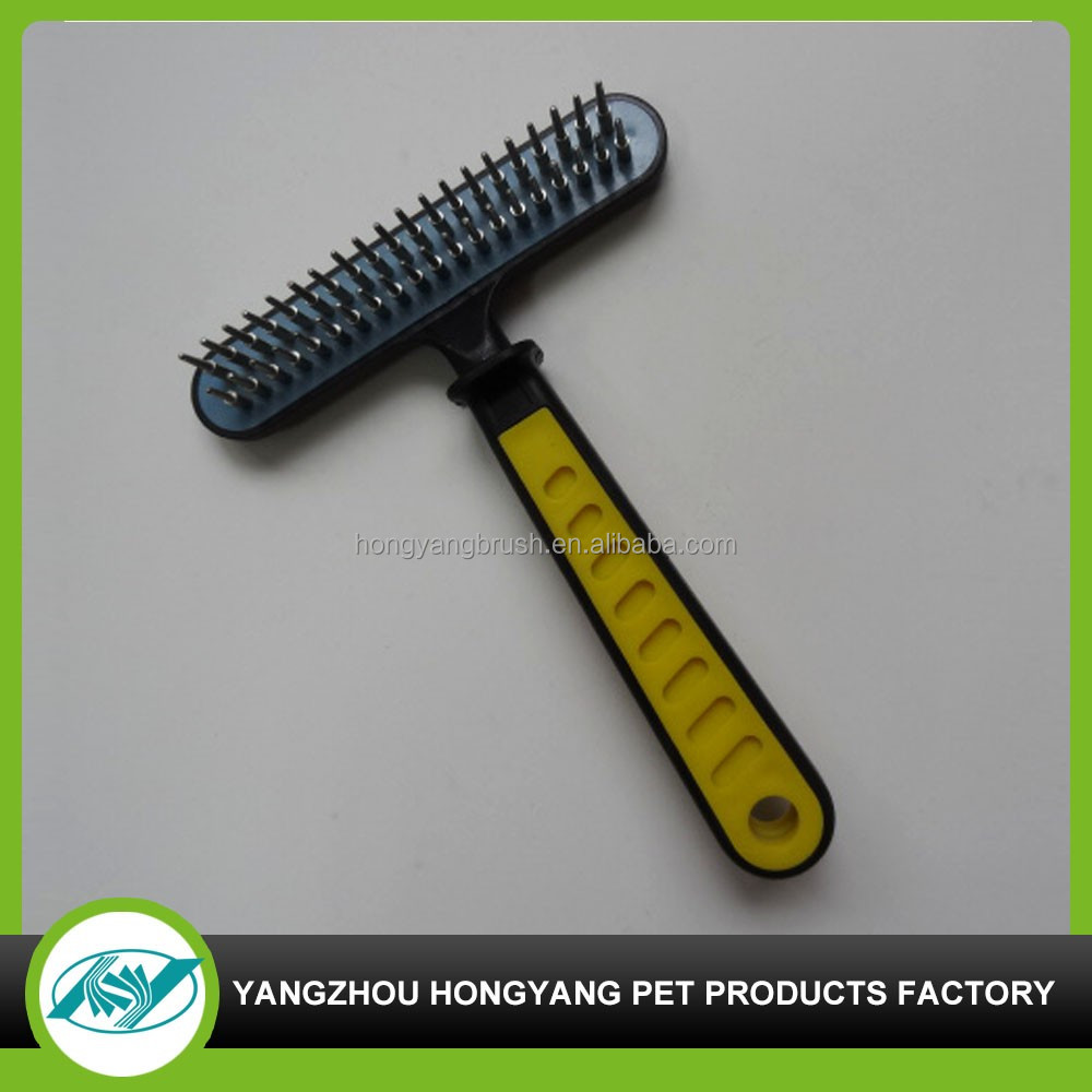 Pet replaceable heads deshedding grooming brush tool with three heads