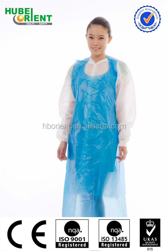 Disposable waterproof plastic PE adult aprons