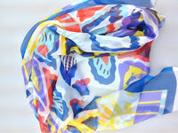 lady pure silk scarf