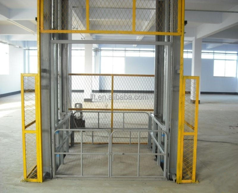 Upright lead rail hydraulic warehouse cargo lift with 10% discount