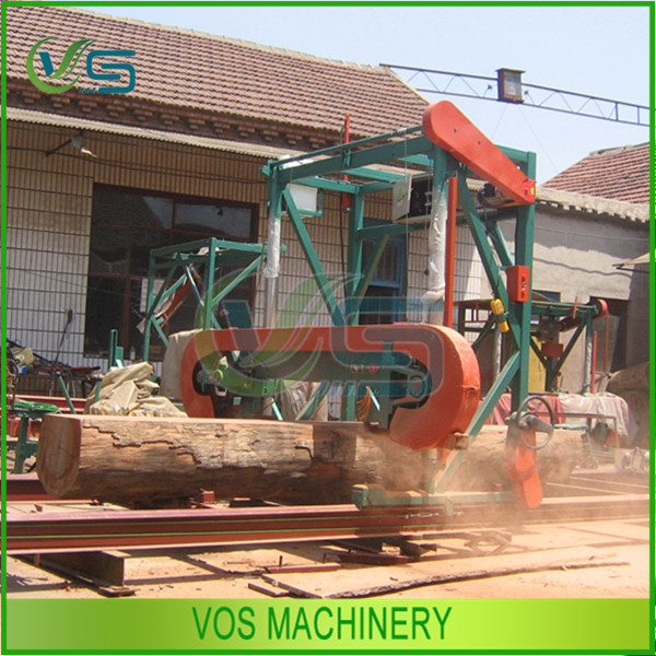 hydraulic automatic wood band saw machine/band sawmill with diesel