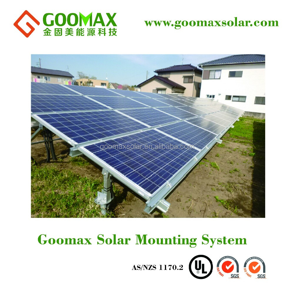 Solar ground mounting system for 1MW with SGS ANS certified delivered in 7-15days