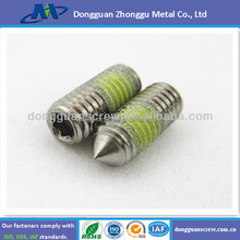 2015 Hot Sale DIN914 STAINLESS STEEL 18-8 SET SCREW/ NO HEAD SCREW/GB/T78 HIGH QUANLITY SET SCREW