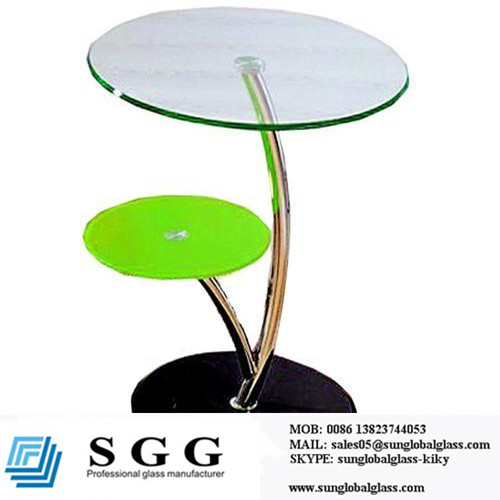 glass top bar table