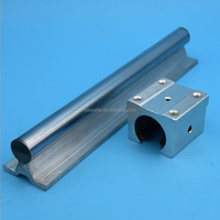 linear guide 2x SBR12 1meter 12mm linear rail shaft+12MM support+ 4 open kind pillow blocks SBR12UU made in China