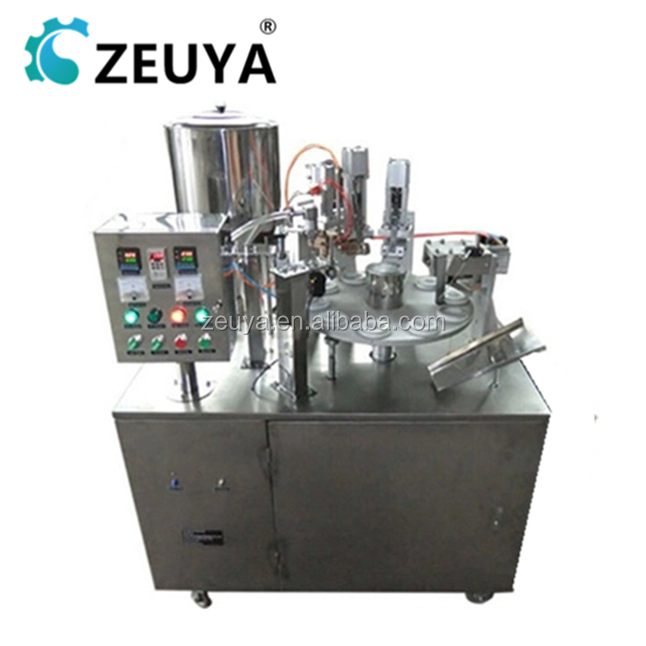 Hot Sale Automatic laminated plastic tube filling sealing machine for toothpaste Manufacturer ZY-400A