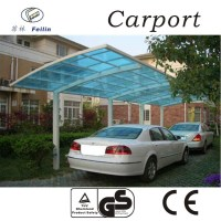Outdoor garden shelter polycarbonate carport with aluminum frame