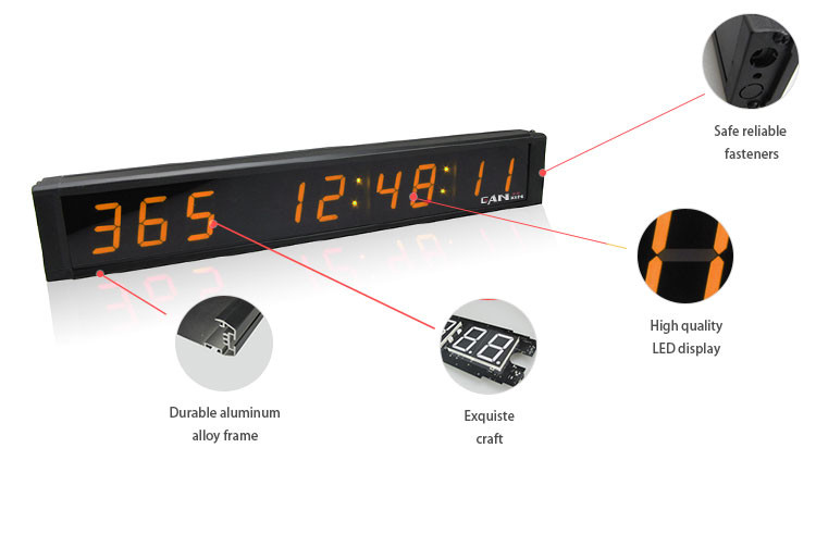 [GANXIN]Wholesale Multicolor Electronic Led Digital Timing Clock