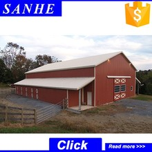 low cost steel structure horse shed