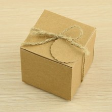 New square shape brown kraft paper gift box