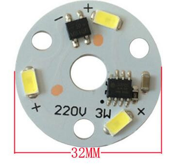 3w LED <strong>Module</strong> AC 220V Driverless LED PCB Board For Bulb/Down Light
