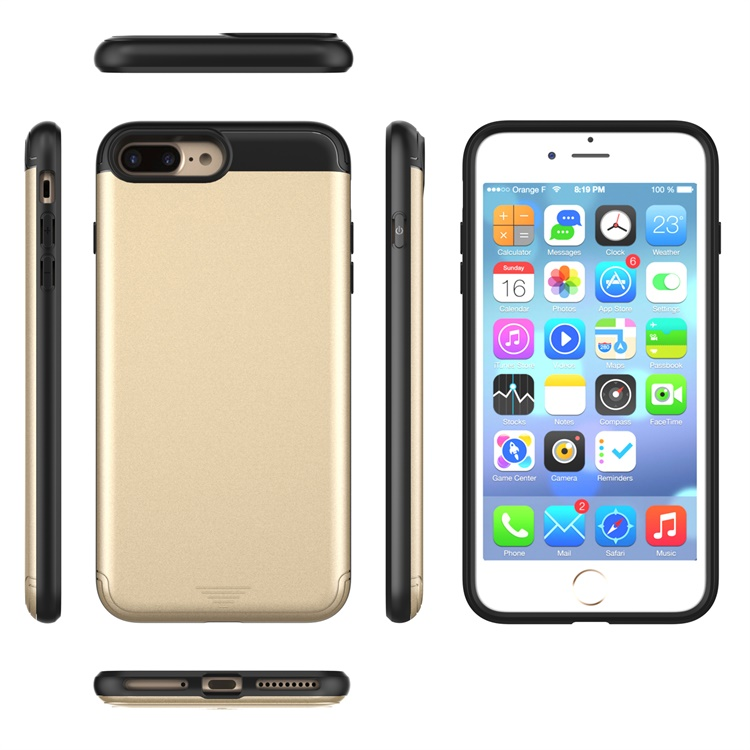 luxury cover combo case TPU+PC case for iphone 7 plus