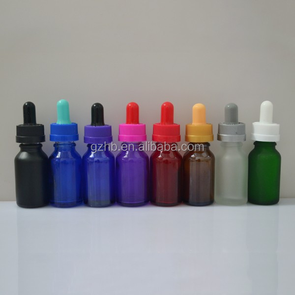 15ml luxury cosmetic glass bottle with dropper, 15ml glass pump dropper, 15ml glue bottle brush pet