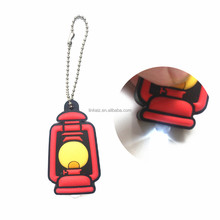 wholesale pvc led torch keychain light